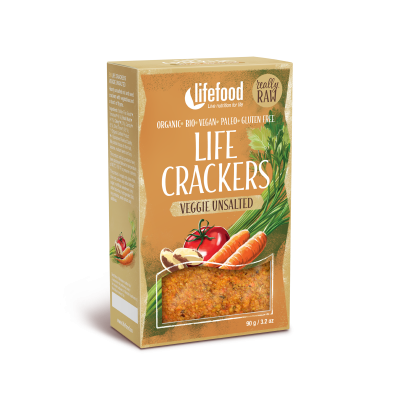 Raw Organic Veggie Unsalted Life Crackers