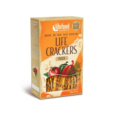 Raw Organic Pizza Life Crackers