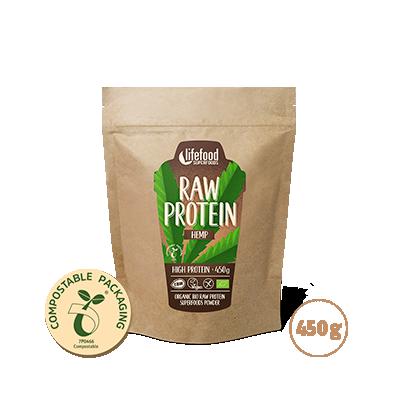 Raw Organic Hemp Power Protein Superfood Powder 450 g