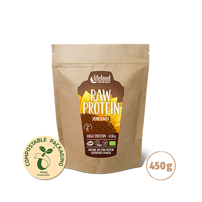 Raw Organic Sunflower Protein 450 g