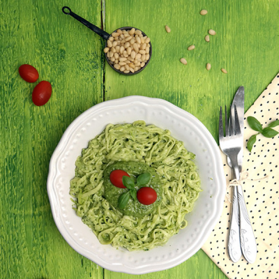 Amazing Linguine al Pesto
