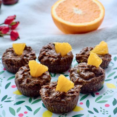 Cupcakes with avocado cream