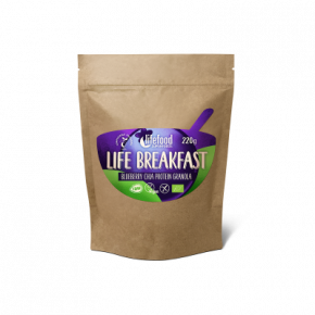 Raw Organic LIFE BREAKFAST Granola Blueberry Chia Protein