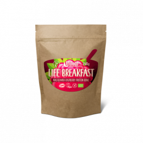 Raw Organic LIFE BREAKFAST Bowl Macadamia Raspberry Protein
